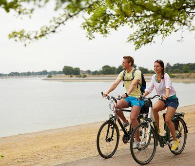 Radfahrer am Geester See